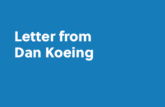 Letter from Dan Koenig