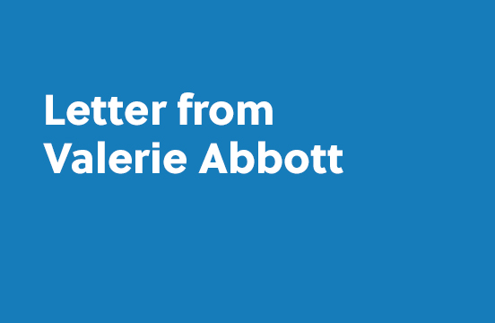 Letter from Valerie Abbott