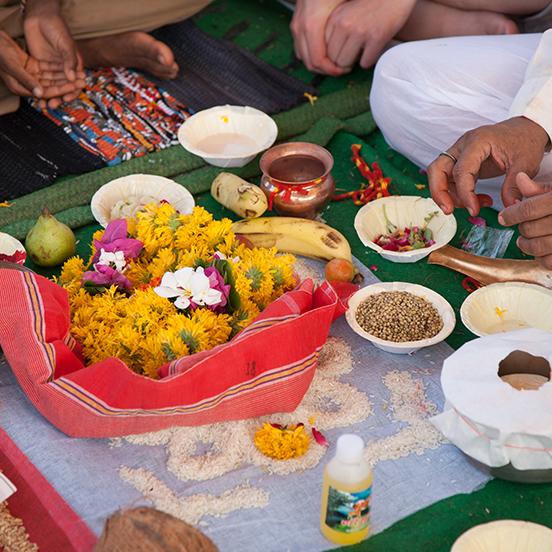 Spread of traditional India food