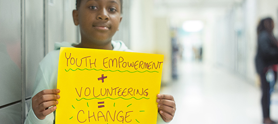 Youth Empowerment + Volunteering = Change