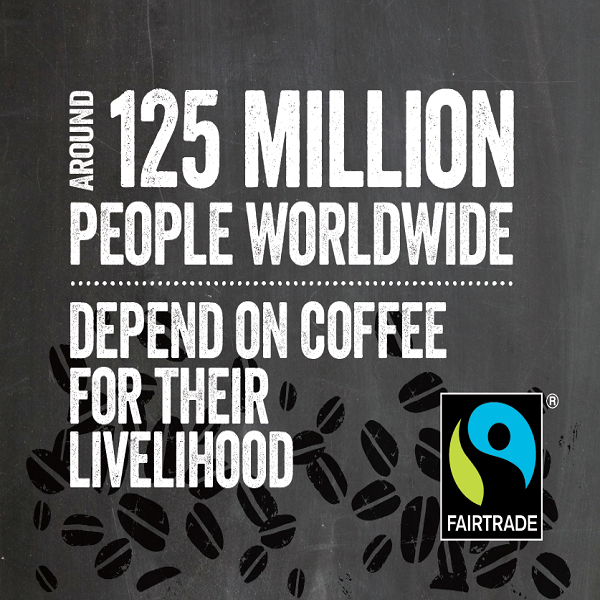Around 125 million people worldwide depend on coffee for their livelihood