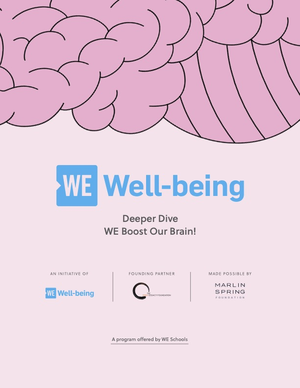 WE Boost our Brain cover
