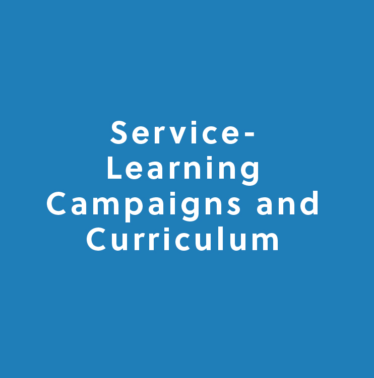 Service-learning campaigns and curriculum