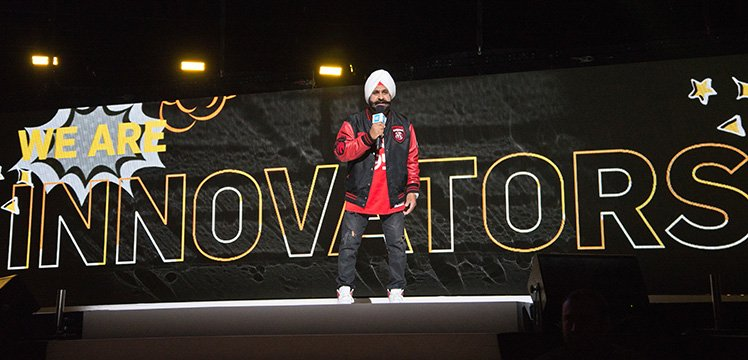 Raptors Superfan Nav Bhatia interview at WE Day.