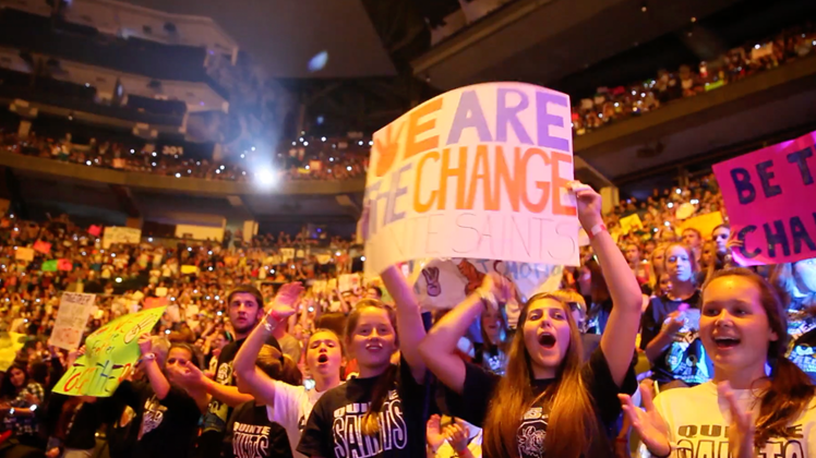 The crowd at WE Day